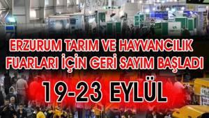 Erzurum Tarım ve Hayvancılık fuarları için geri sayım başladı