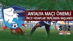 BB.Erzurumspor Antalya Deplasmanına gidiyor