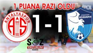 BB.Erzurumspor deplasmandan 1 puanla döndü