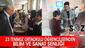 23 Temmuz Ortaokulu'nda Bilim ve Sanat Şenliği düzenlendi