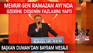 Başkan Duman'dan Ramazan Değerlendirmesi