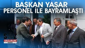 Başkan Yaşar Personeli ile Bayramlaştı