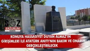 Atatürk Anıtının bakım ve onarımı yapılıyor
