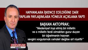 Başkan Aktoprak'tan jet açıklama