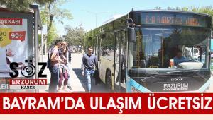 Bayram'da Ulaşım ücretsiz olacak