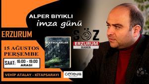 Yazar Alper Bıyıklı 2.Kitabı için Erzurum'da imza günü düzenleyecek
