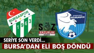 BB.Erzurumspor Bursa'dan eli boş döndü