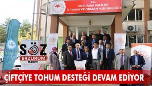 Erzurum Çiftçisine ücretsiz tohum dağıtıldı