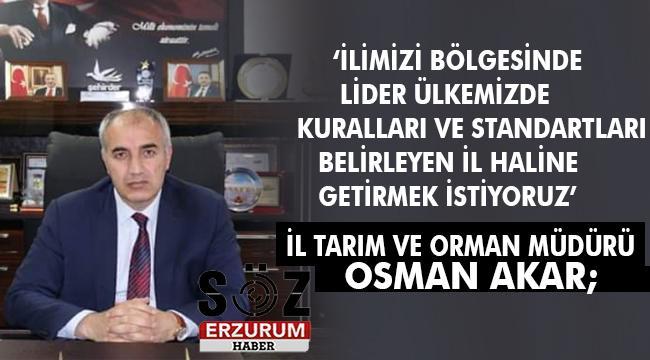 Erzurum'da Tarım