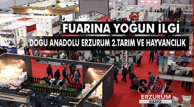 Erzurum Tarım ve Hayvancılık Fuarı 2.Yılında 34.350 ziyaretçiyi ağırladı