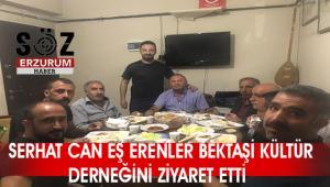 Serhat Can Eş Erzurum Erenler Alevi Bektaşi derneği'ni ziyaret etti