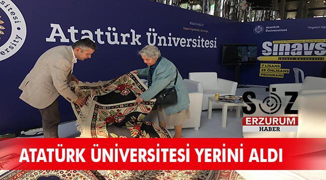 Atatürk Üniversitesi'nin açtığı stand ilgi gördü