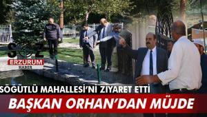 Başkan Orhan Söğütlü'de incelemelerde bulundu