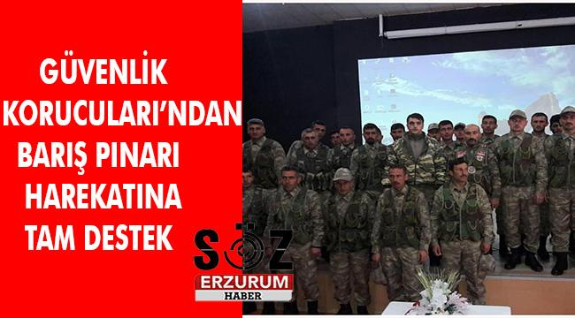 Güvenlik Korucularından Barış Pınarı Harekatına destek açıklaması