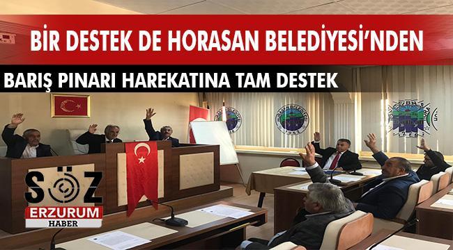 Horasan Belediye Meclisi'nden Barış Pınarı Harekatına tam destek