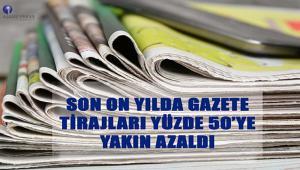 Yıllara göre gazete tirajları belli oldu