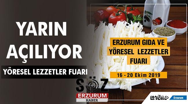 TÜYAP Erzurum Gıda ve Yöresel Lezzetler Fuarı için geri sayım başladı