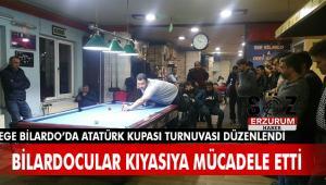 Atatürk Kupası Bilardo Turnuvası' Ege bilardo salonunda yapıldı