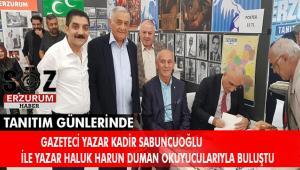 Erzurum'lu Yazarlar Tanıtım Günleri'nde kitaplarını imzaladı