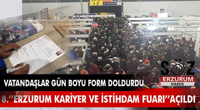 8. ''Erzurum Kariyer ve İstihdam Fuarı'' açıldı