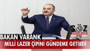 Bakan Varank, Ermaksan'ın kilogram değeri 2 milyon dolarlık çiplerini TBMM'de anlattı