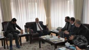 Milli Beka Hareketi Yönetimi Rektör Çomaklı'yı ziyaret etti