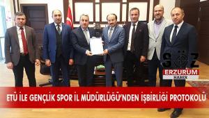 ETÜ ile  Gençlik ve Spor İl Müdürlüğü Arasında İş Birliği Protokolü İmzalandı
