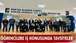 Ahmet Yağcı, öğrencilere iş yaşamı hakkında tavsiyelerde bulundu