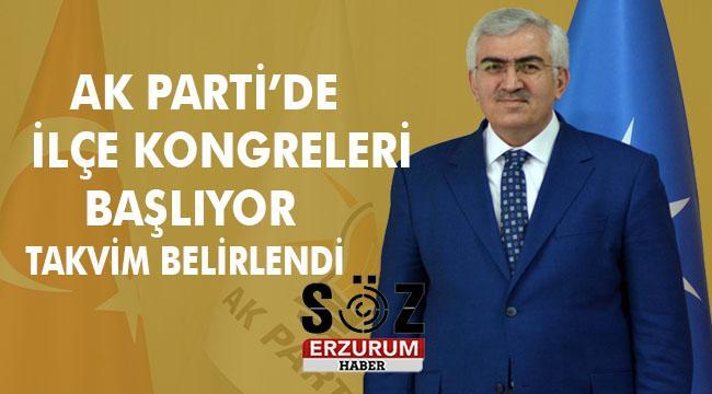 AK PARTİ ERZURUM'DA KONGRE SÜRECİ BAŞLIYOR