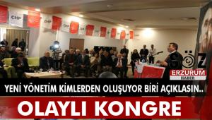 CHP Erzurum'da olaylı kongre
