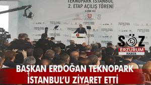 Cumhurbaşkanı Recep Tayyip Erdoğan Teknopark İstanbul'u ziyaret etti