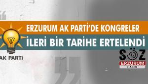 Erzurum Ak Parti Kongreleri İptal edildi