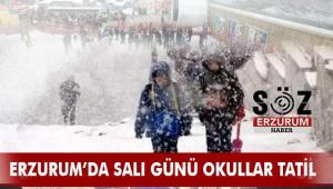 Erzurum'da Okullar 1 Gün daha tatil edildi