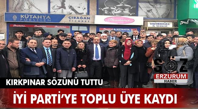 ERZURUM İYİ PARTİ'YE 100 KİŞİLİK TOPLU ÜYE KAYDI