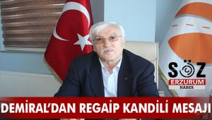 Otogar İşletme Müdürü Ahmet Demiral'dan Regaip Kandili Mesajı