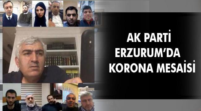 AK PARTİ İL YÖNETİMİ TELEKONFERANSLA TOPLANDI