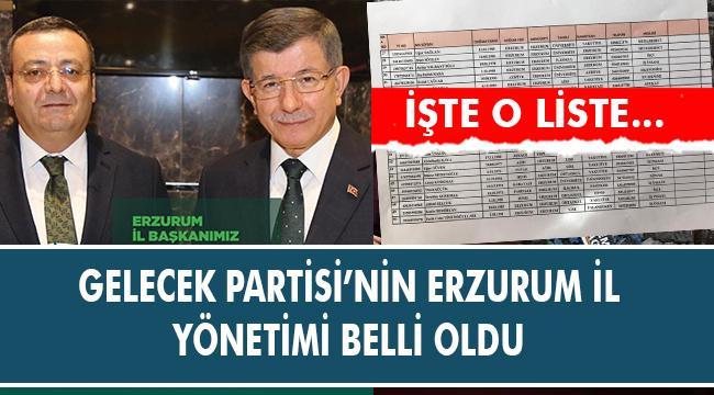 GELECEK PARTİSİ'NDE YÖNETİM BELLİ OLDU