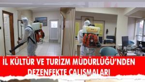 İl Kültür ve Turizm Müdürlüğü'nden dezenfeksiyon uygulaması