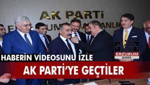 İyi Partili Palandöken Belediyesi Meclis Üyeleri AK Parti sıralarına katıldı