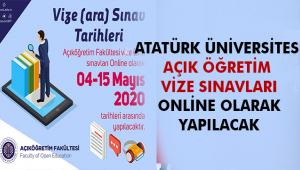 Açıköğretim Fakültesi Vize (Ara) Sınavları 04-15 Mayıs 2020 Tarihleri Arasında