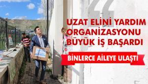 Uzat Elini Yardım Organizasyonu zor durumda olan vatandaşların yanında olmaya devam ediyor