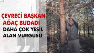 Çevreci Başkan Ağaç Budadı