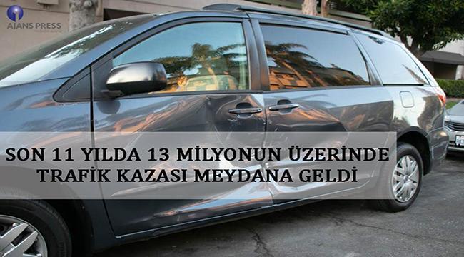TRAFİK KAZALARINDA ÖLENLERİN YÜZDE 42,7'SİNİ SÜRÜCÜLER OLUŞTURDU