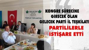 Gelecek Partisi Erzurum İl Başkanlığında İstişare Toplantısı yapıldı
