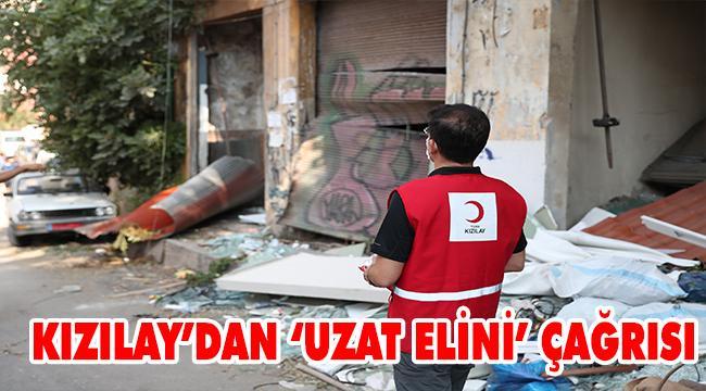 """Kızılay'dan Beyrut için """"uzat elini"""" çağrısı"""