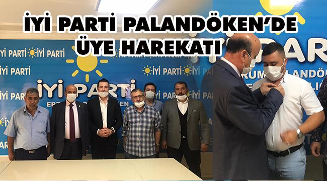 İYİ PARTİ PALANDÖKEN'DEN ÜYE ÇALIŞMALARI