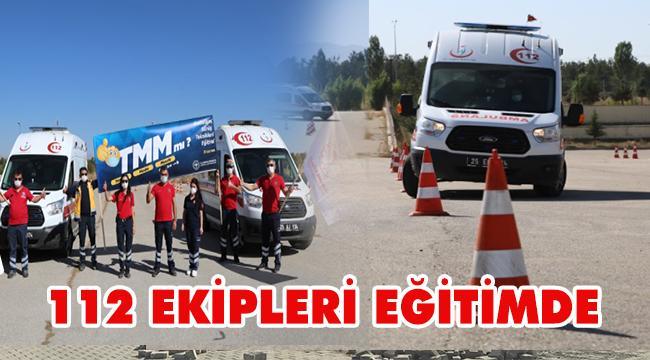 Erzurum'da Pandemi Bile 112 Ekiplerinin Eğitimlerini Durduramadı...