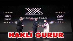 YÖK 2020 Üstün Başarı Ödülü Atatürk Üniversitesinin