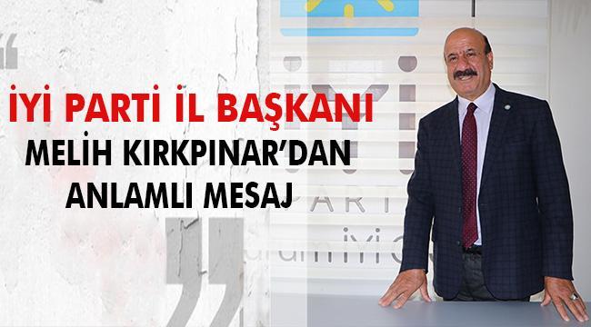 Başkan Kırkpınar'dan 24 Kasım Öğretmenler Günü Mesajı