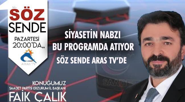 SÖZ SENDE ARAS TV'DE BAŞLIYOR